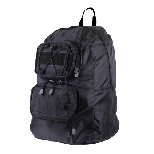 Tactical Foldable Black Backpack