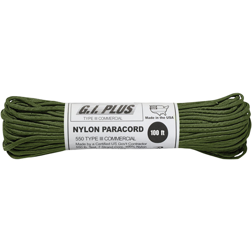 Nylon Paracord Type III 550 LB 100 Feet