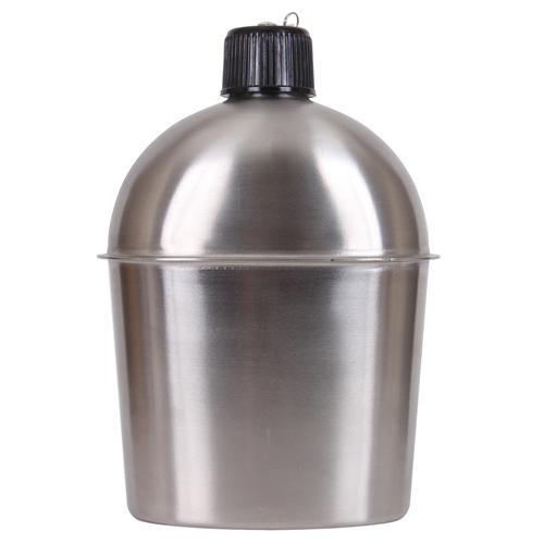 GI Style Stainless Steel Canteen