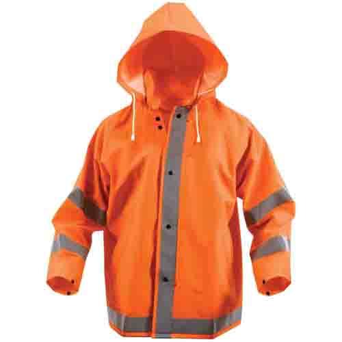 Mens Safety Reflective Rain Jacket