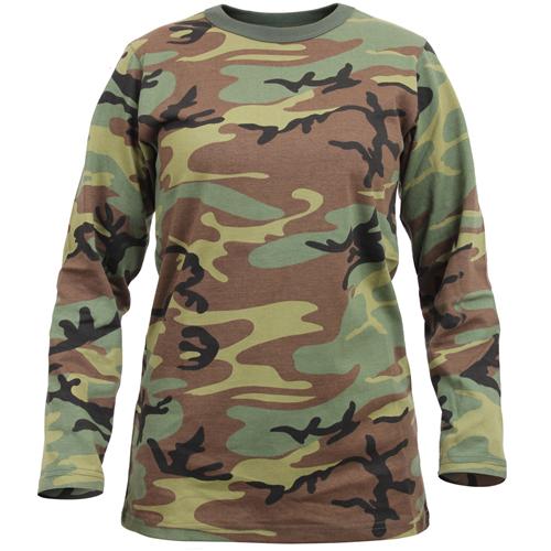 Womens Long Sleeve Camo T-Shirt