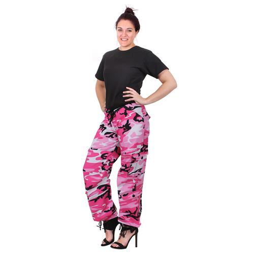 Women Paratrooper Colored Camo Fatigues Pant