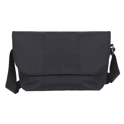 Polyester Elusion Messenger Black Bag