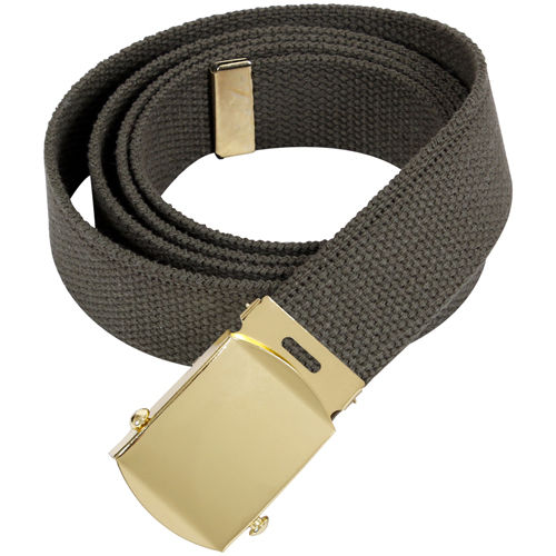 44 Inch Military Gold Buckle Web Belts