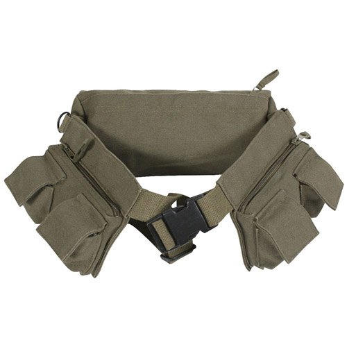 Canvas 7 Pocket Fanny Pack