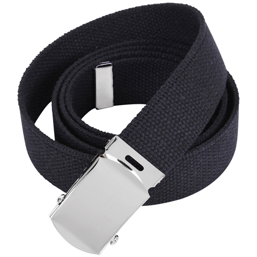 64 Inch Military Color Web Chrome Buckle Belts