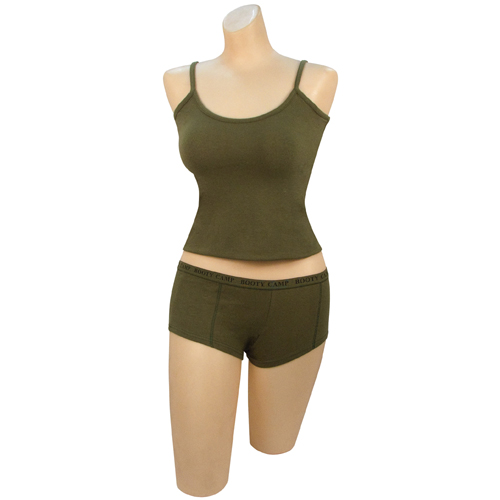 Olive Drab Booty Camp Tank Top