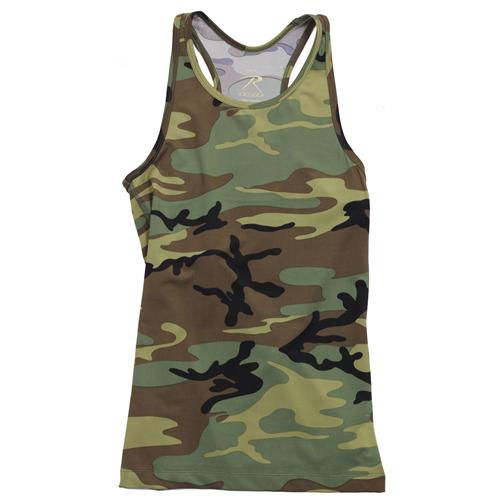 Womens Camo Workout Performance Tank Top
