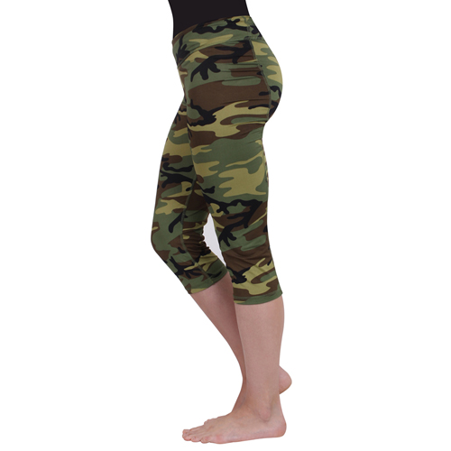 Women Camo Workout Performance Capri