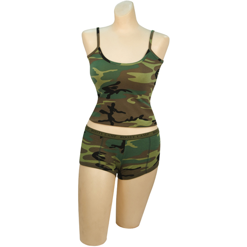 Woodland Camo Booty Camp Tank Top