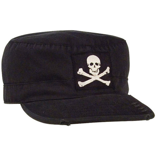 Vintage Military Jolly Roger Fatigue Cap