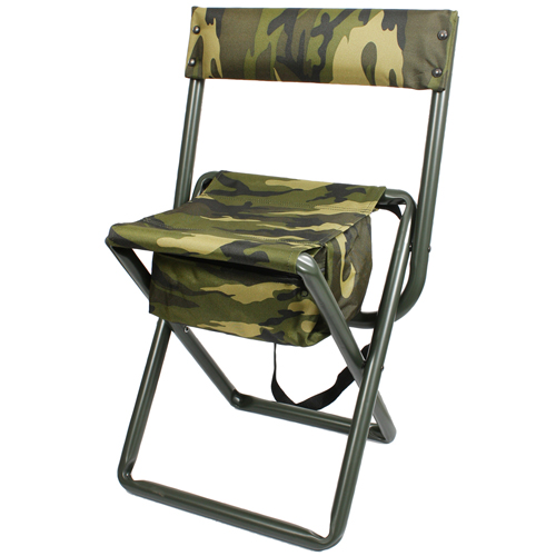 Deluxe Camo Stool W Pouch Back