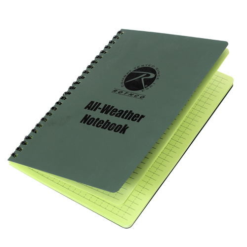 All Weather 6 Inch X 8 Inch Waterproof Notebook