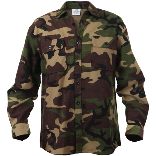 Mens Extra Heavyweight Camo Flannel Shirts