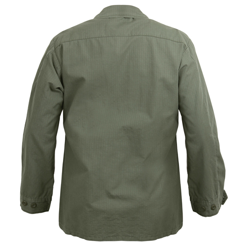 Vintage Vietnam Rip-Stop Fatigue Shirt