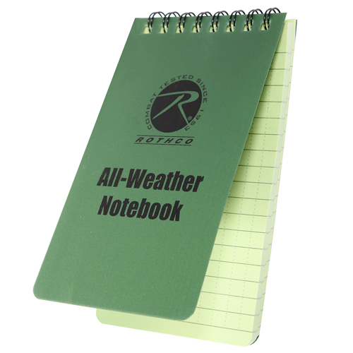 All Weather 3 Inch X 5 Inch Waterproof Notebook