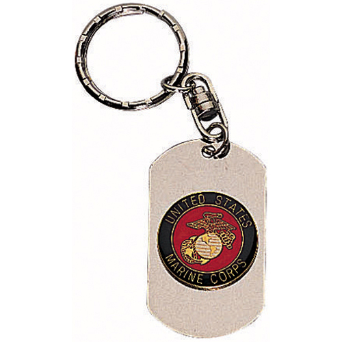 Marines Dog Tag Key Chain