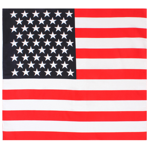 27 X 27 Inches U.S. Flag Bandana