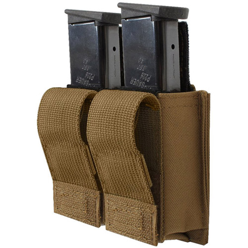 Molle Double Pistol Mag Pouch With Insert