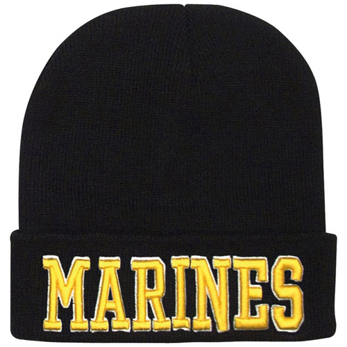 Deluxe Embroidered Marines Watch Cap