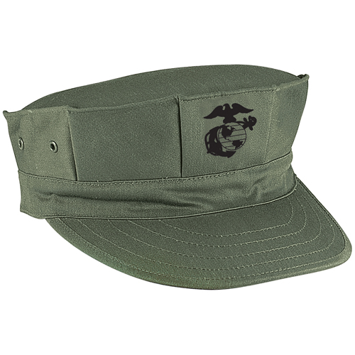 Marine Corps Poly-Cotton Cap with Emblem