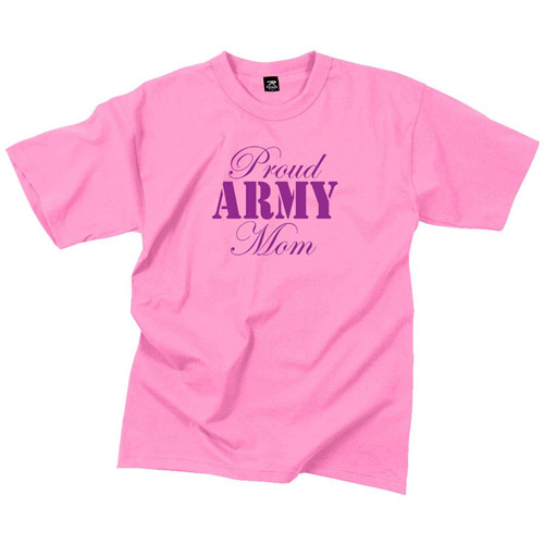 Womens Proud Army Mom T-Shirt