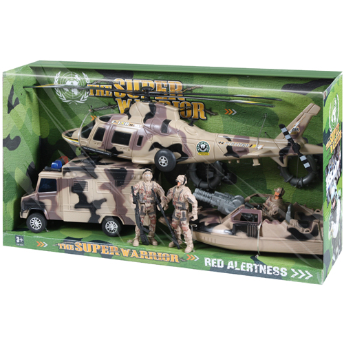Super Warrior Vehicle Play Set