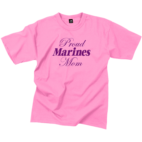 Womens Proud Marines Mom T-Shirt