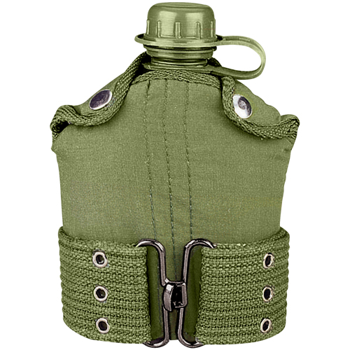 G.I. Type Plastic Canteen And Pistol Belt Kit