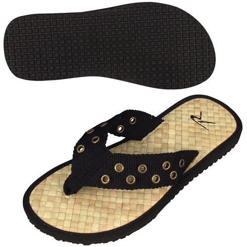 Black Pistol Belt Sandals