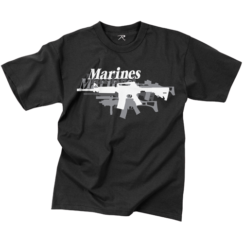 Mens Vintage Marines Gun T-Shirt
