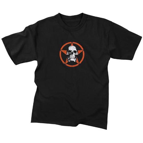 Kids Skull In Star T-Shirt
