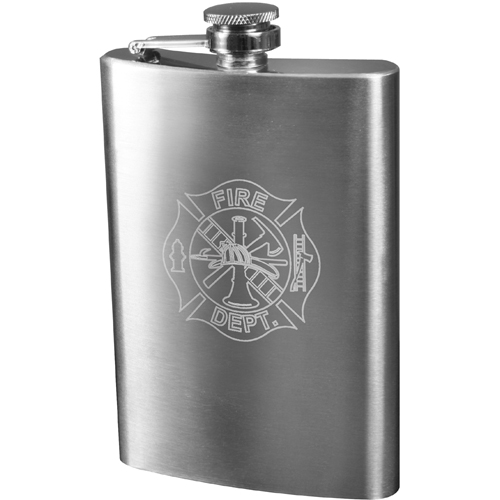 Fire Department Engraved Stainless Steel Flasks