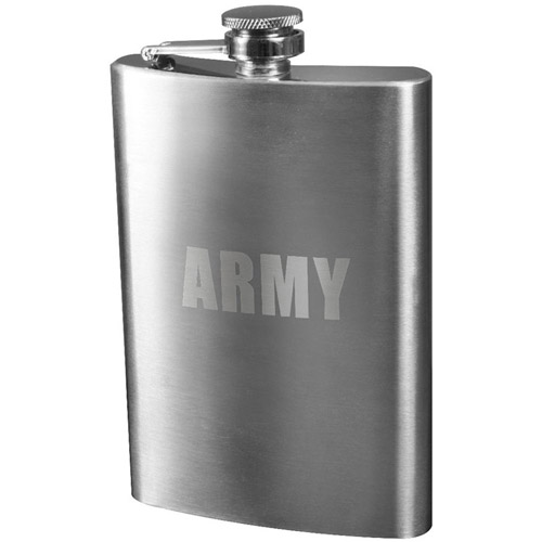 Army Engraved Stainless Steel Flasks