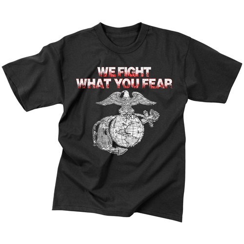Mens Vintage We Fight What You Fear Globe & Anchor T-Shirt