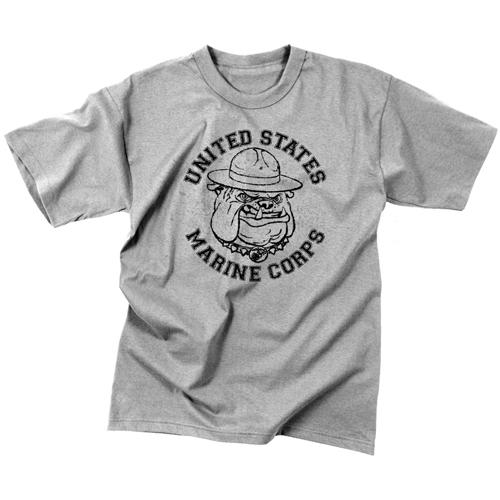 Mens Vintage US Marine Corps Bulldog T-Shirt