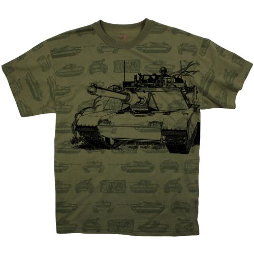 Vintage Olive Drab Tank T-Shirt