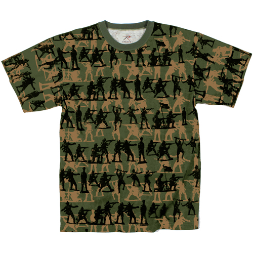 Mens Vintage Camo Soldier T-Shirt