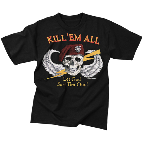 Mens Kill Em All Let God Sort Em Out T-Shirt