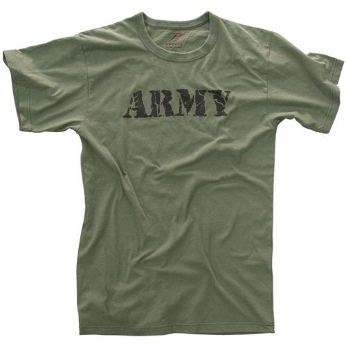 Mens Vintage Army T-Shirt