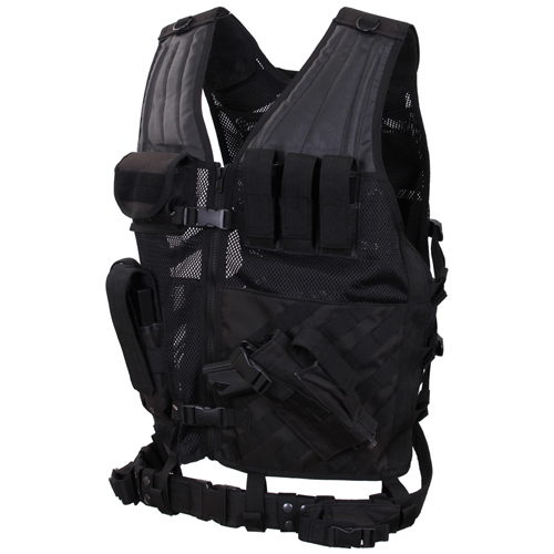 Cross Draw Molle Oversized Tactical Vest