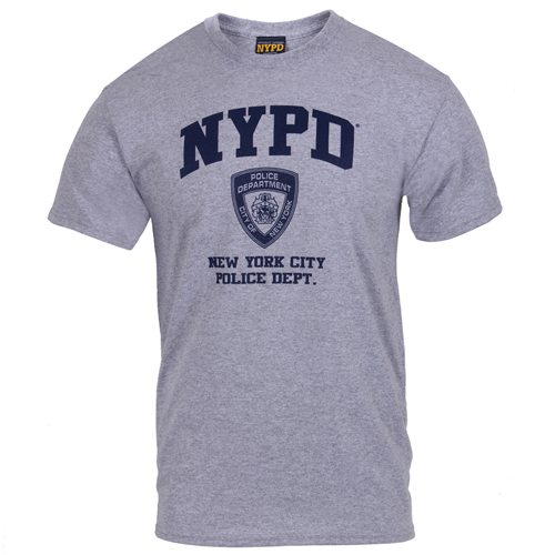 Mens Officially Licensed NYPD Physical Training T-Shirt
