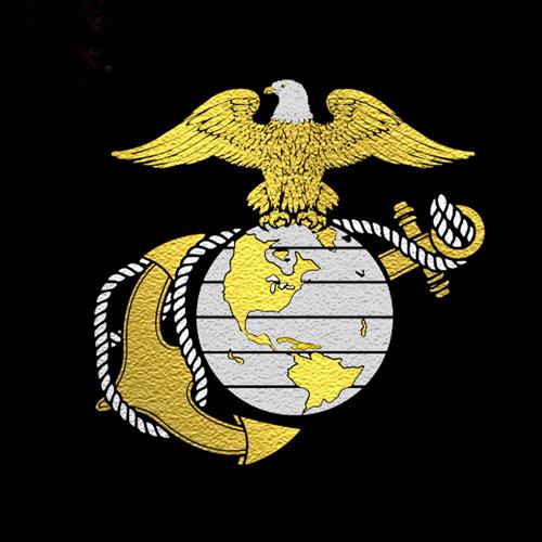Mens Globe And Anchor Logo T-Shirt