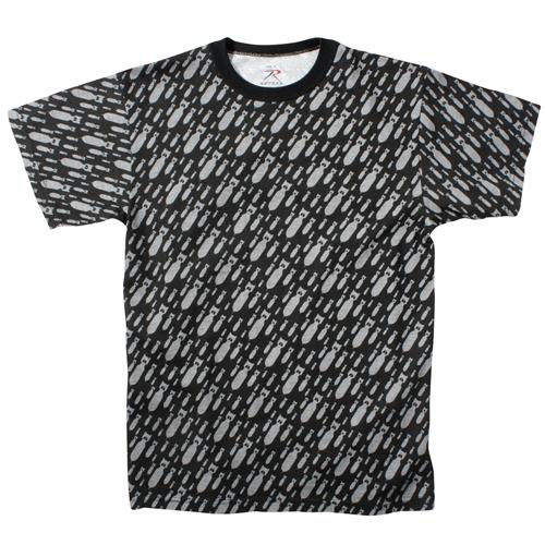 Mens Vintage Black Bomb T-Shirt