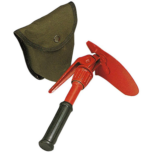 Orange Mini Pick and Shovel with Cover