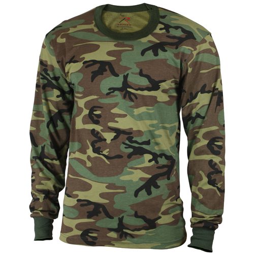 Kids Long Sleeve Camo T-Shirt