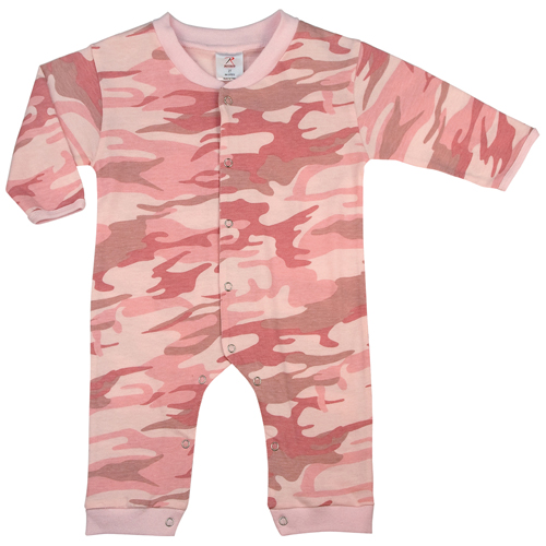 Infant Camo Long Sleeve And Leg One-Piece Bodysuit