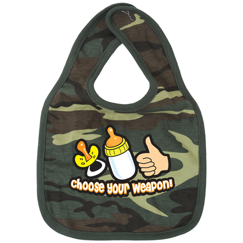 Choose Your Weapon Infant Bib