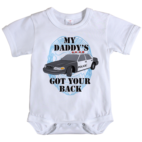 Infant My Daddys Got Your Back One Piece