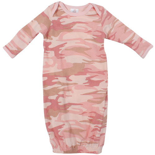 Infant Long Sleeve Camo Sleeper One-Piece